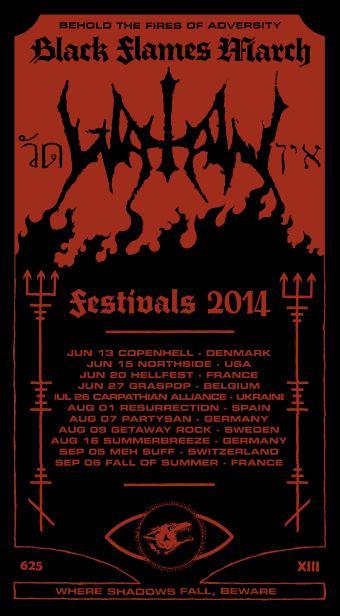 Watain Festivals 2014