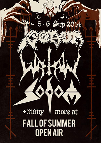 Watain Flyer Fall Of Summer 2014