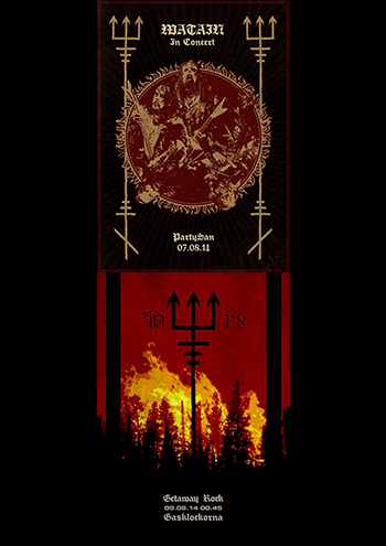 Watain Flyer PartySan and Getaway 2014